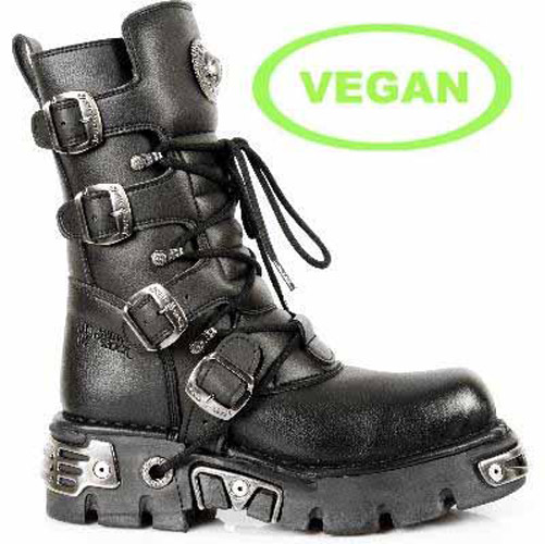 vegan new rock biker boots