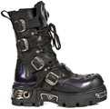 New Rock 107-S4 Purple Metallic Skull Reactor Boots