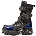 New Rock 145-C2 Cobalt Blue Reactor Skull Boots
