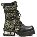 New Rock 373-C47 Green Leopard Planing M3 Calf Boots