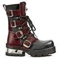 New Rock 373-C46 Red Leopard Cowhide Planing M3 Calf Boots