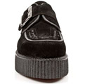 New Rock 2402-S1 Black Suede Weave Brothel Creepers