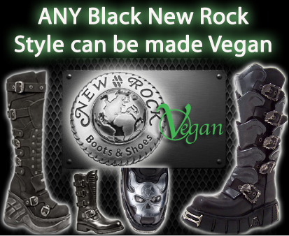 New Rock Vegan Vegetarian Boots